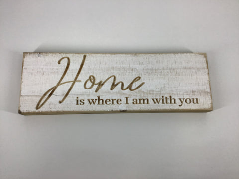 Wood Sign - Home