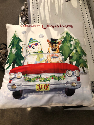 "16"" Sq Pillow - Merry Xmas, Polyester"