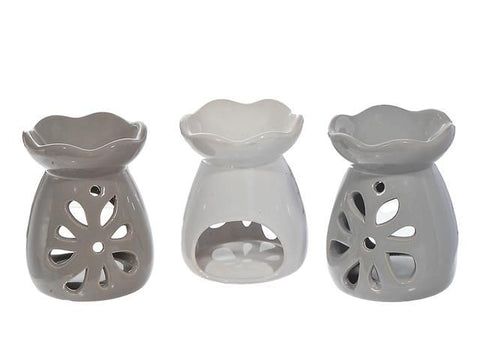 Ceramic Oil Burner (Petal Cutout) (Asstd)