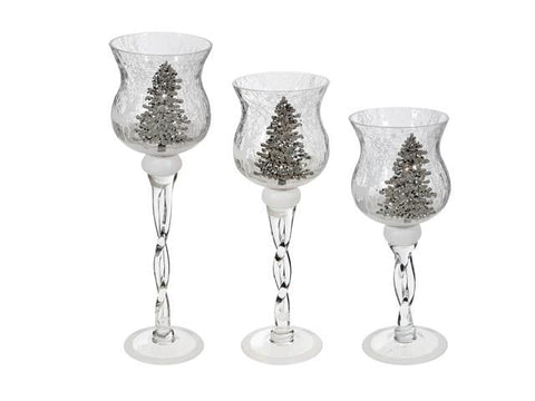 Shimmery Tree Candle Holder