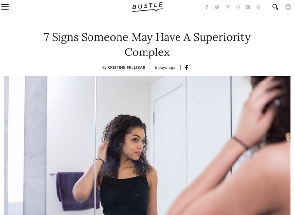 7 Signs Someone May Have A Superiority Complex