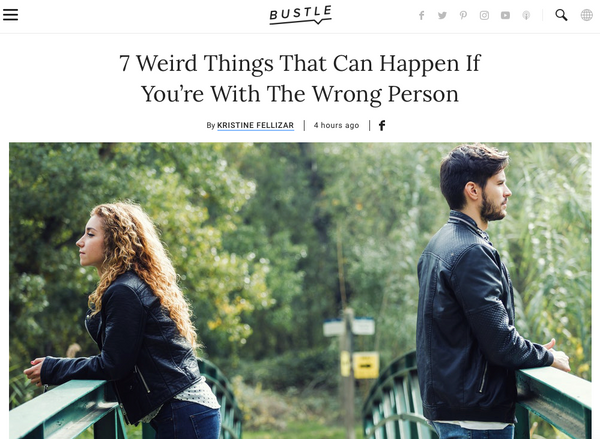 Bustle Myles Scott - 7 Weird Things That Can Happen If You're With The Wrong Person