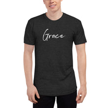 Load image into Gallery viewer, Grace - Unisex Tri-Blend Track Shirt
