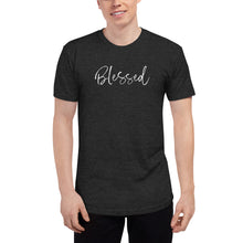 Load image into Gallery viewer, Blessed - Unisex Tri-Blend Track Shirt