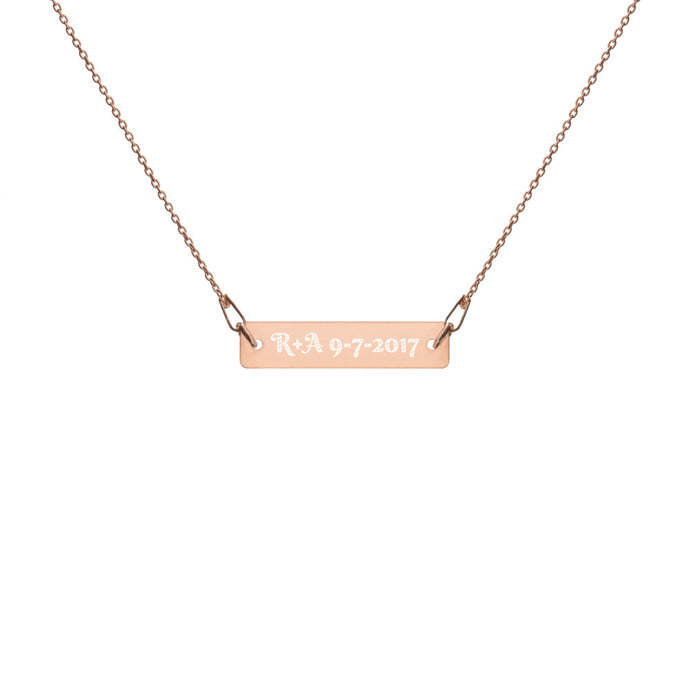 Custom Intention Necklace - Bar Pendant - 24K Gold, 18K Rose Gold or White Rhodium