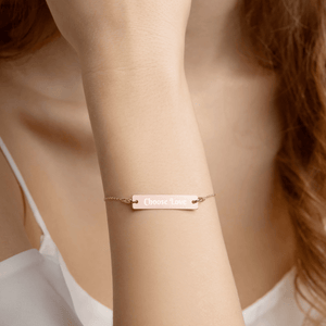 Custom Intention Bracelet - 24K Gold, 18K Rose Gold or White Rhodium