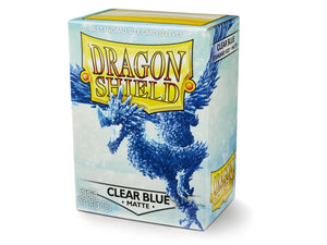 Dragon Shield Standard Sleeves - Clear Blue (Matte)
