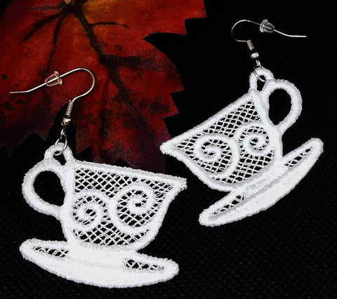 "FSL ""Teacup"" Earrings"