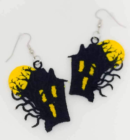 "FSL ""Haunted House"" Earrings"