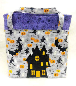 """Haunted House"" Halloween Tote Bag"