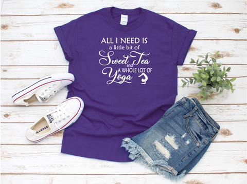 """Sweet Tea and Yoga"" T-shirt"