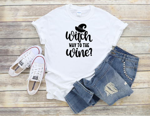 """Witch way to the Wine"" T-shirt"