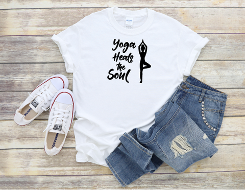 """Yoga heals the Soul"" ""2"" T-shirt"