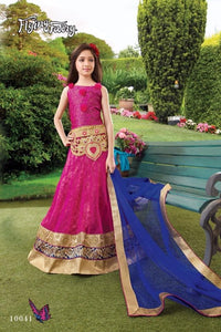 Beautiful designer semi stitched lengha for girls