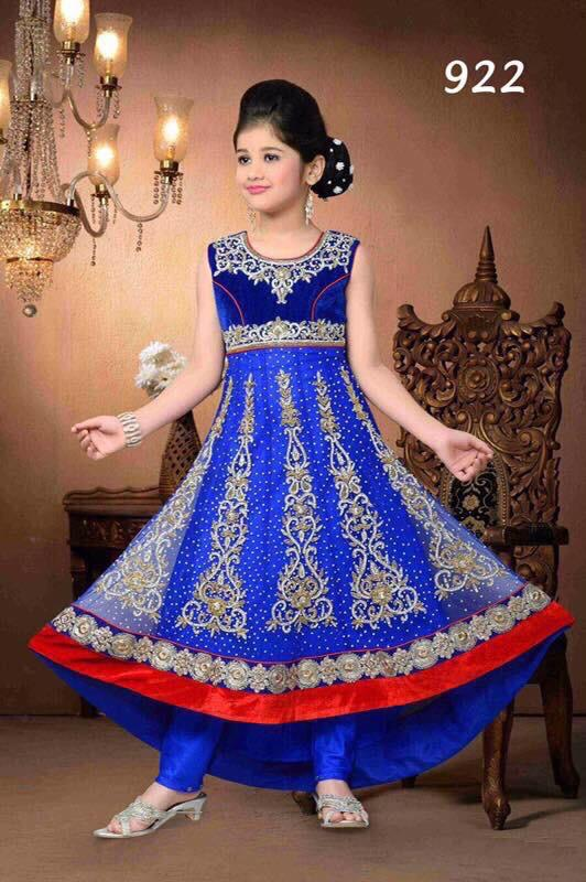 Beautiful designer anarkhali suit for kids