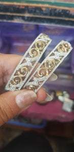 Beautiful designer American diamond bangle set