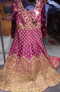 Beautiful designer anarkhali with stone work