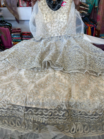 Beautiful designer long top lengha