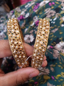Beautiful designer polki stone bangle