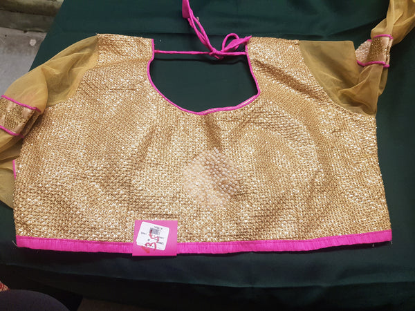 Beautiful designer blouse with pearl work