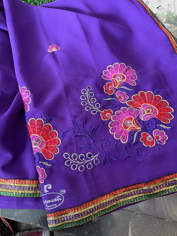 Beautiful sequins embroidery saree