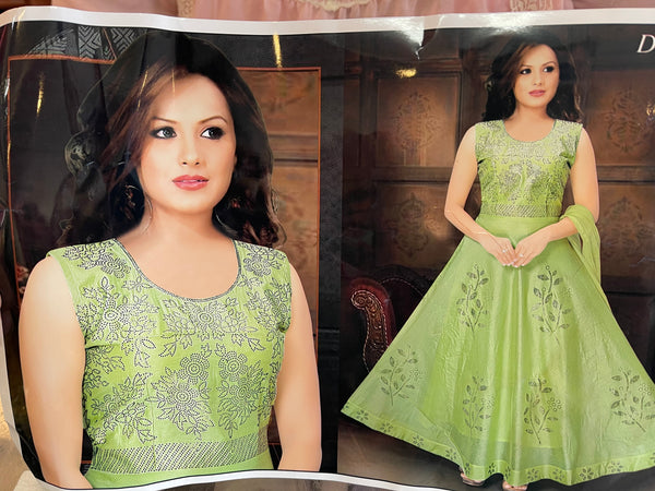 Beautiful designer gown style anarkali suit