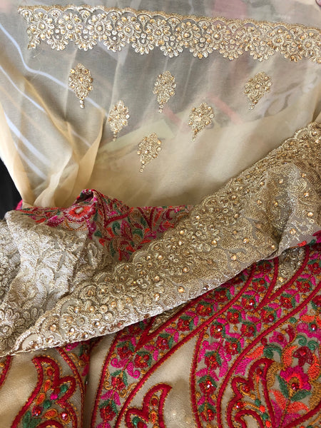 Beautiful designer heavily embroidery saree
