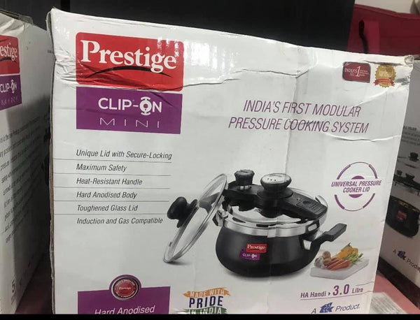 Prestige clip on 3 ltr pressure cooker