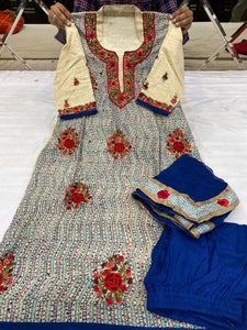 Beautiful designer plazo suit
