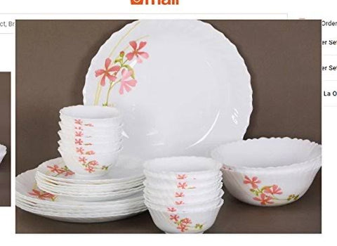 La Opala dinner set 29 pieces
