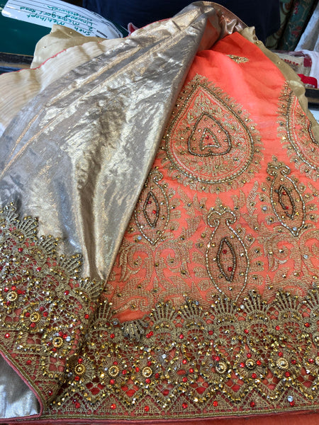 Beautiful designer silk heavily embroidery saree