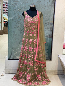 Beautiful designer indo western gown