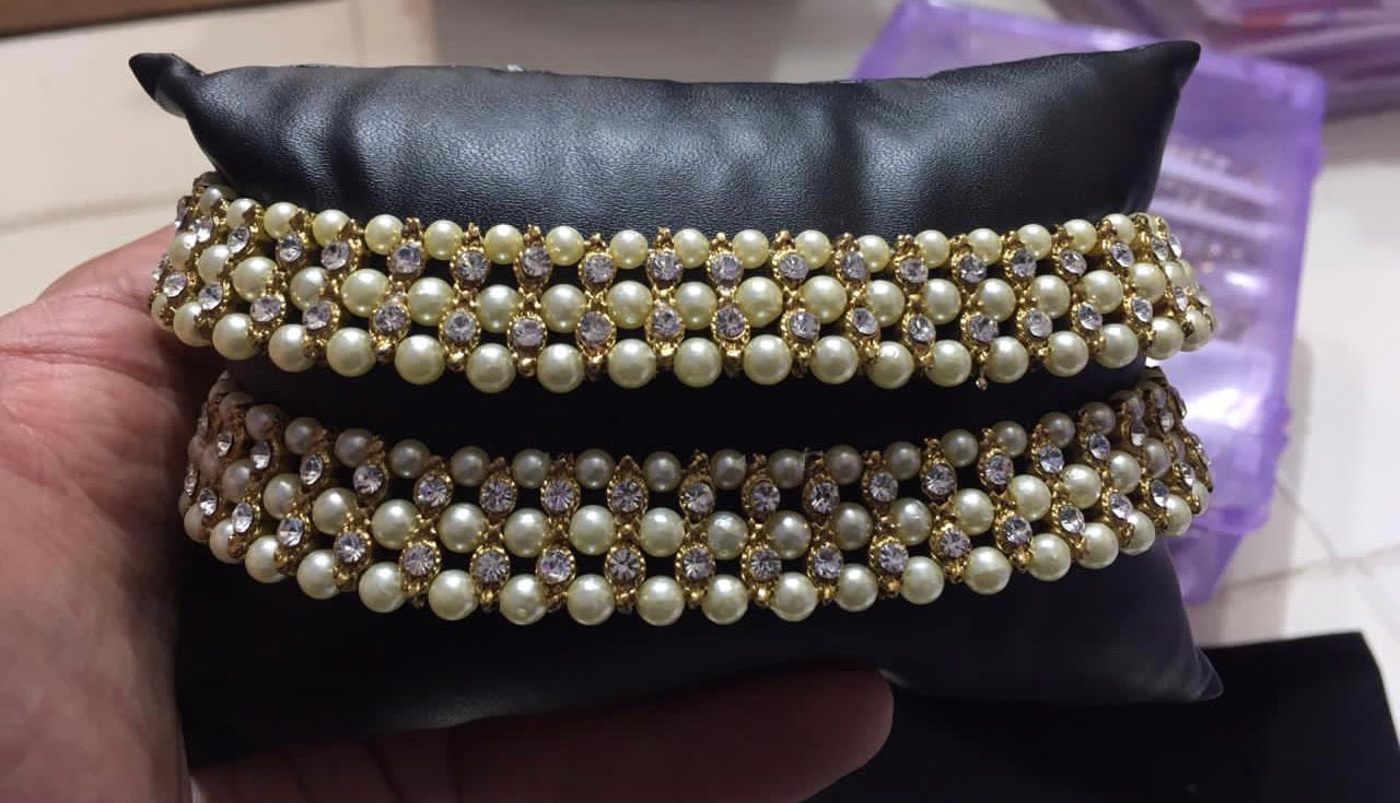 Beautiful designer kundan anklet