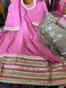 Beautiful designer heavily embroidery readymade Punjabi patiala suit