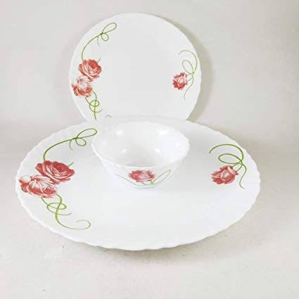 LaOpala Dainty swirls Dinner Set of 35 pieces