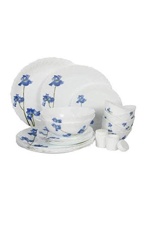 LaOpala Blue Orchids Dinner Set Of 35