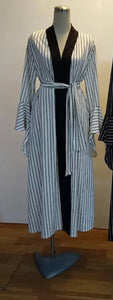 Thin Striped Open Front