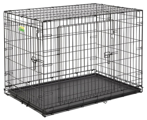 Contour Double-Door Folding Dog Crate 42''