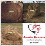 Aussie Grazer Round Bale Slow Feeder Nets For Livestock