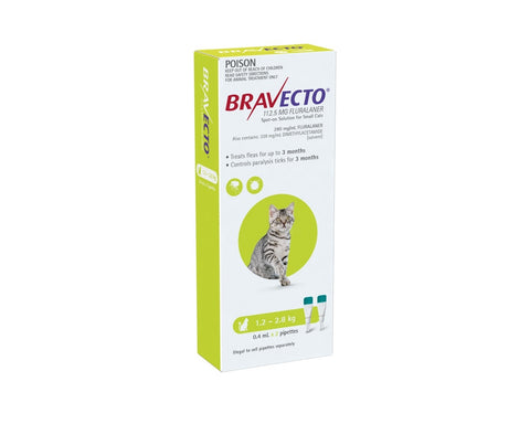 Bravecto Spot On Small Cats 1.2-2.8kg