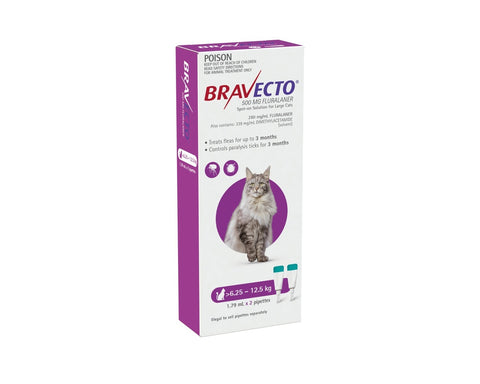Bravecto Spot On Large Cats 6.25-12.5kg