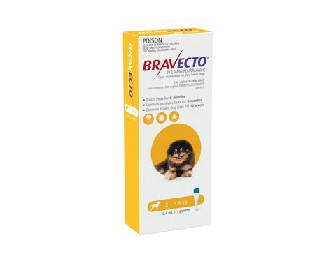 Bravecto Spot On Very Small Dogs 2-4.5kg