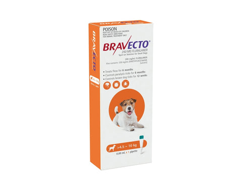 Bravecto Spot On Small Dogs 4.5-10kg