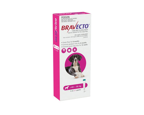 Bravecto Spot On XLarge Dogs 40-56kg
