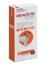 Bravecto Chew For Small Dogs 4.5-10kg