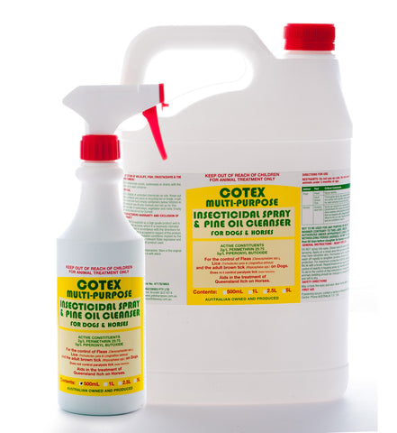 Cotex Multipurpose Insecticidal Spray & Pine Oil Cleanser for Dogs & Horses