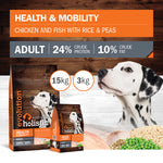 Evolution Holistic Chicken and Fish with Rice & Peas 15kg