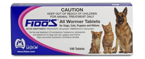 Fido's Allwormer for Cats and Dogs