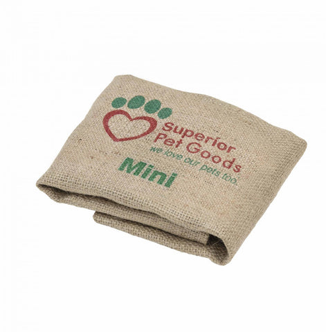 Fitted Hessian Dog Bed Cover Mini