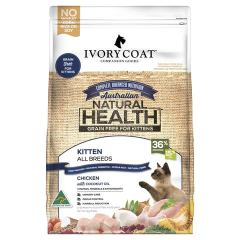 Ivory Coat Feline Kitten Chicken with Coconut Oil
